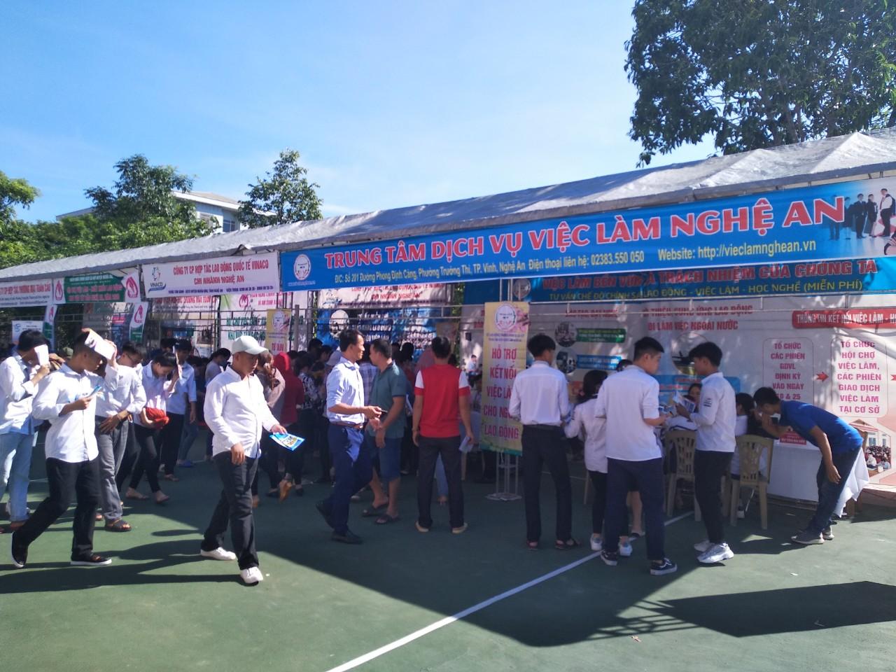 Hội chợ kết nối, giới thiệu việc làm trong và ngoài nước huyện Nghĩa  Đàn năm 2020